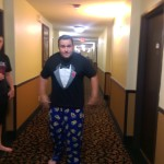 Joey Thurmond having fun back at the hotel!!