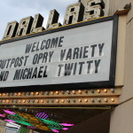 The marquee at the Dallas Theatre, Dallas, Ga